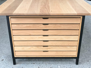 Custom standing conference table drawers