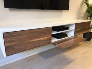 Custom floating entertainment console 2