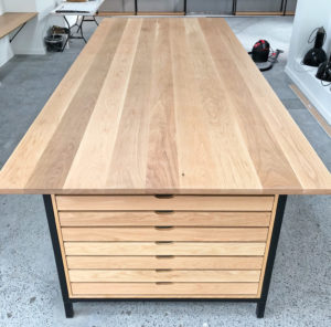 Custom built standing conference table
