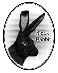 Hand drawn black rabbit graphic design
