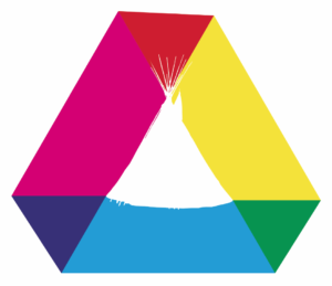 tri-color tipi graphic design