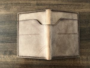 Leather wallet exterior
