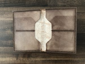 Leather wallet interior