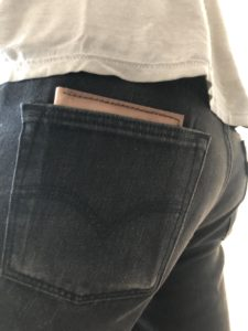Leather wallet in pocket