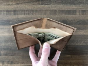 Leather wallet exterior 4