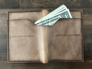 Leather wallet exterior 3