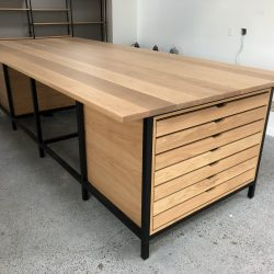 Custom standing conference table