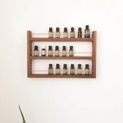Custom essential oils wall rack